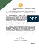 Declaración MG caso Costadoat