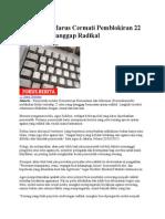 Pemerintah Harus Cermati Pemblokiran 22 Situs Yang Dianggap Radikal
