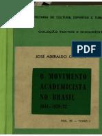 O Movimento Academicista No Brasil 1641