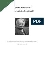 Maria Montessori O Alternativa Educational A