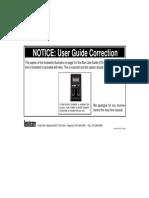 Lexicon Alex Rev.1 User Guide Correction