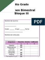 4to Grado - Bloque 3 (2014-2015) R