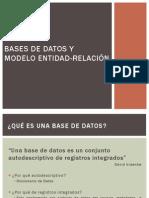 Bases de Datos y Modelo Entidad-Relación