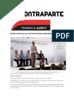 25-03-2015 ContraParte - Puebla Cuenta Hoy Con Una Política Social Responsable e Integral