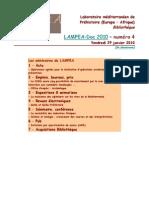 LAMPEA-Doc 2010 – numéro 4 / Vendredi 29 janvier 2010