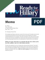 Leaked Clinton Fundraising Memo