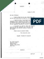 President Roosevelt's response to Einstein