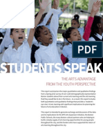students speak- the arts advantage from the youth perspective- final