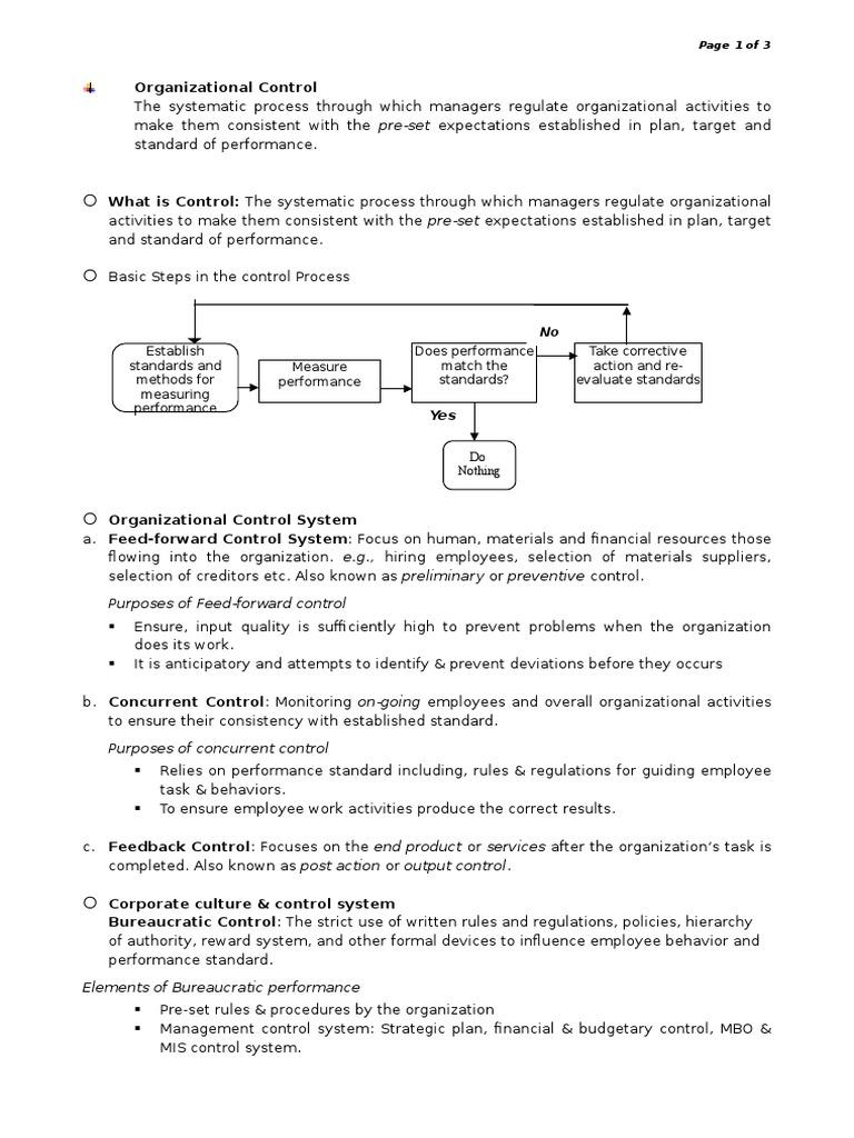 bureaucratic control system