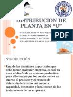 Distribucion de Planta en u