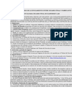 Modelo de Acuerdo de Licenciamiento Entre Usuario Final y Fabricante