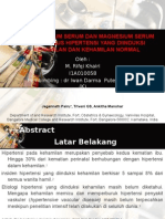 Studi CA & Mg Serum Pd Kehamilan