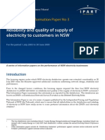 InformationPaperNo3 ReliabilityandqualityofsupplyofelectricitytocustomersinNSW PdfFINAL 000