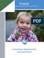 Escala de integración auditiva significativa infantes-preescolares