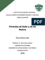 Fórmulas de Euler y de de Moivre