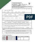 Tercer Examen Parcial Área Matematica Fecha 7-12-2009c