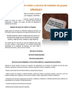Alquiler de Autos Sin Chofer y Servicio de Traslados de Grupos en Uruguay