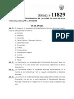 ordenanza 11829