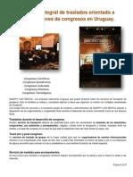 Servicio Integral de Traslados Orientado a Organizadores de Congresos en Uruguay.