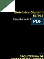 Aula 2 Arquitetura de Dispositivos Lógicos Programáveis ELT013ECO2013