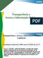 Transparencia e Acesso a Informação Publica