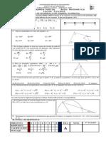 Tercer Examen Parcial Área Matematica Fecha 7-12-2009