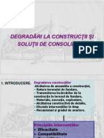 Degradarea Si Consolidarea Fundatiilor an III IE