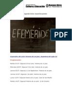 Ciclo Efemérides - Canal Encuentro