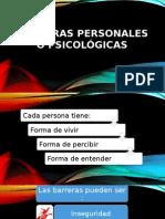 Barreras Personales o Psicológicas