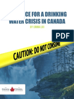 ON NOTICE FOR A DRINKING  WATER CRISIS IN CANADA