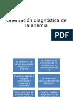 Orientación Diagnóstica de La Anemia