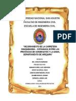 Mejoramiento de La Carretera Chuquibamba Cotahuasi