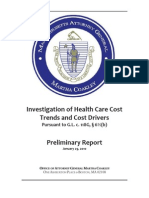 Health Care Costs & Trends Investigation