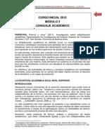 Modulo Lenguaje Academico 2015