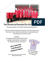 International Day of the Girl Flyer