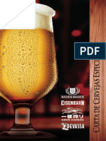 Carta Cervejas Especiais
