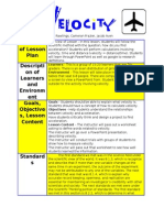 overview of lesson plan