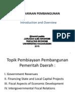 Materi Pembiayaan Pembangunan Sesi Intro 2015