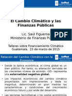 Presentación Cambio Climático y Finanzas Públicas