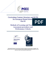 Curriculum Structure ECTS Part II