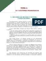 Metodos y Sistemas Pedagógicos