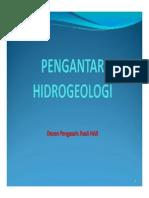 1. Pengantar Kuliah Hidrogeologi (Rusli Har)