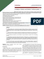 Endothelial Function in Prediabetes Diabetes and Diabetic Cardiomyopathy 2155 6156.1000364