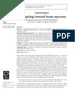 Navigating Toward Team Sucess