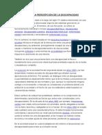 EVOLUCIÓN DE LA PERCEPCIÓN DE LA DISCAPACIDAD