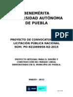 Proyecto Convocatoria -Parque Lineal Universitario