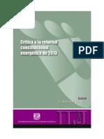 Crítica a la Reforma Constitucional Energética de 2013
