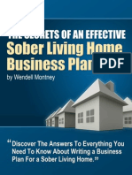Sober Living Home Business Plan