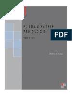 Fundamentele Psihologiei 2015 Note de Curs Subiecte