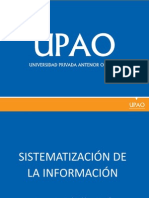 Sesion03-04 sistematizacion